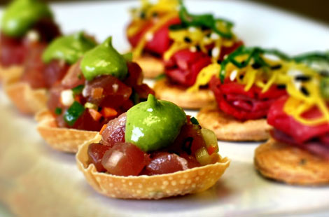 Tuna appetizer made by Fork & Spoon Productions