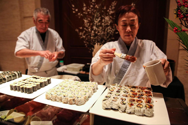 Sushi Bar Station at Event